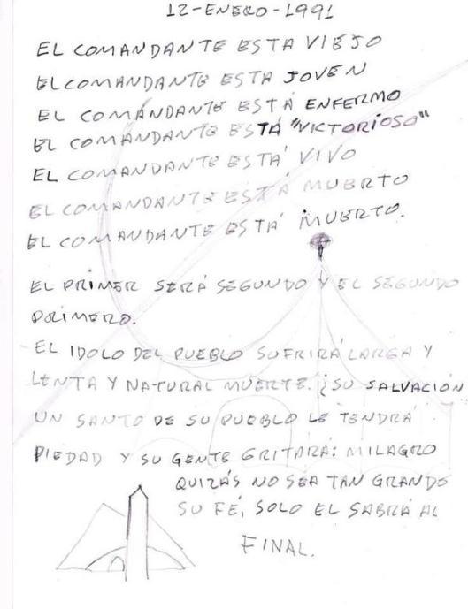 Psicografia de Reinaldo El Profeta sobre Venezuela