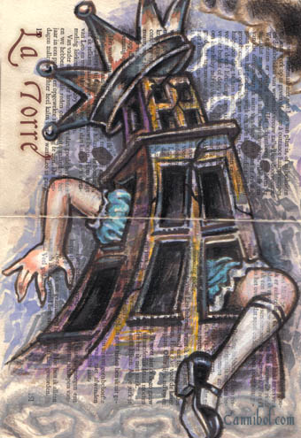 tower alice tarot
