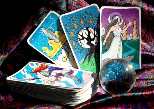 tarot and crystal