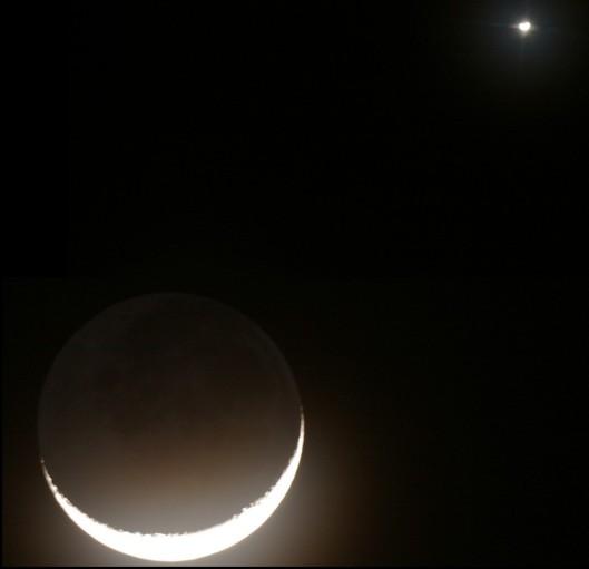 Resultado de imagen para luna nueva con marte